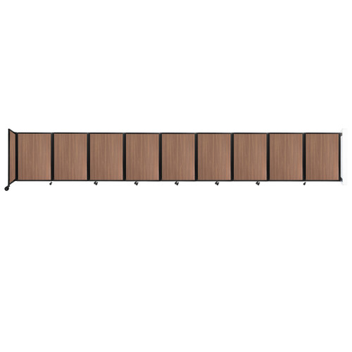 Wall-Mounted Room Divider 360 Folding Portable Partition 25' x 4' River Birch Wood Grain