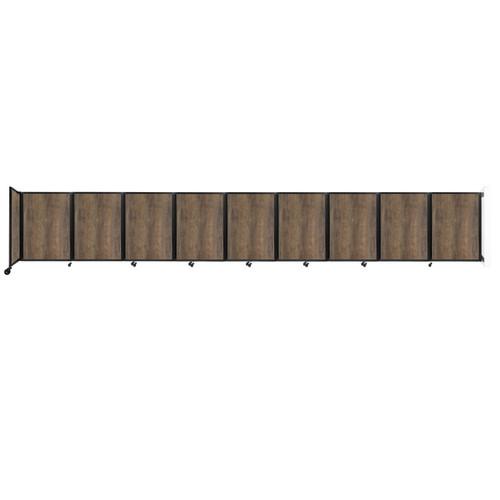 Wall-Mounted Room Divider 360 Folding Portable Partition 25' x 4' Urban Oak Wood Grain