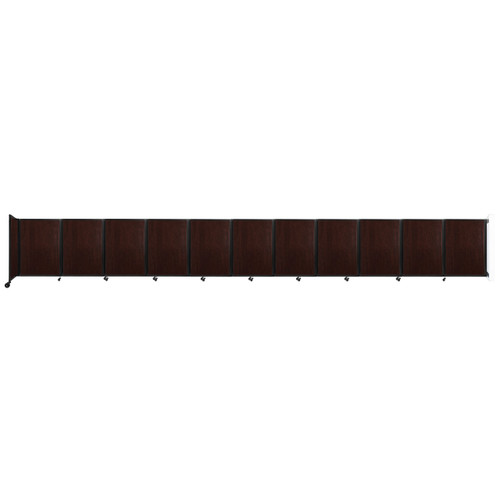 """Wall-Mounted Room Divider 360 Folding Portable Partition 30'6"""" x 4' Espresso Cherry Wood Grain"""