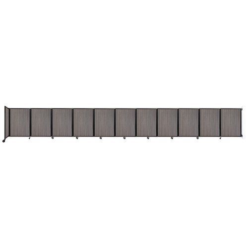 """Wall-Mounted Room Divider 360 Folding Portable Partition 30'6"""" x 4' Gray Elm Wood Grain"""