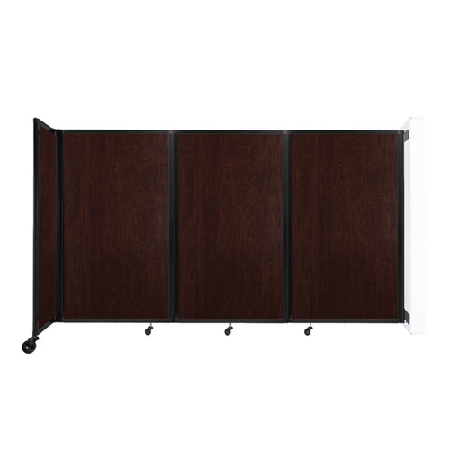 """Wall-Mounted Room Divider 360 Folding Portable Partition 8'6"""" x 5' Espresso Cherry Wood Grain"""