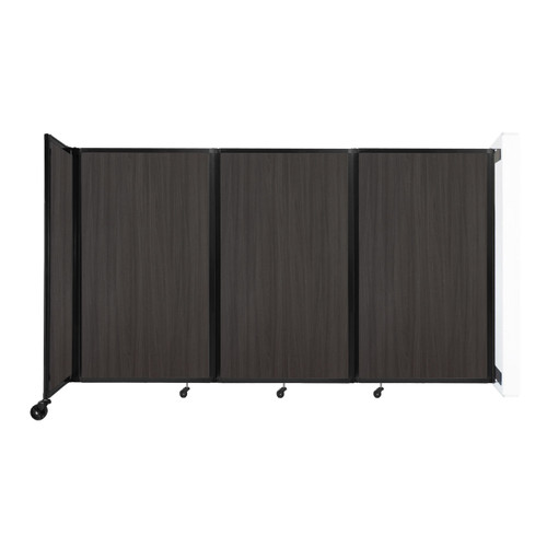 """Wall-Mounted Room Divider 360 Folding Portable Partition 8'6"""" x 5' Carbon Ash Wood Grain"""
