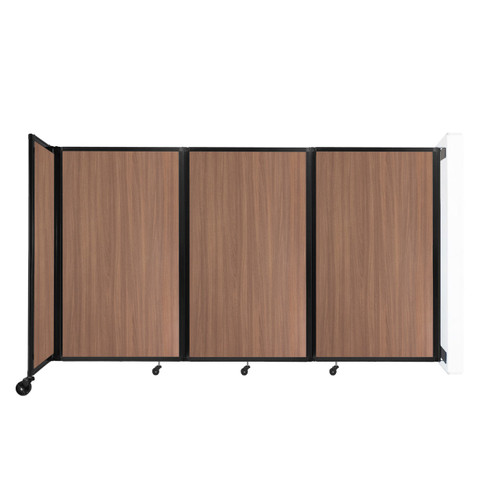 """Wall-Mounted Room Divider 360 Folding Portable Partition 8'6"""" x 5' River Birch Wood Grain"""
