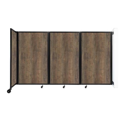 "Wall-Mounted Room Divider 360 Folding Portable Partition 8'6"" x 5' Urban Oak Wood Grain"