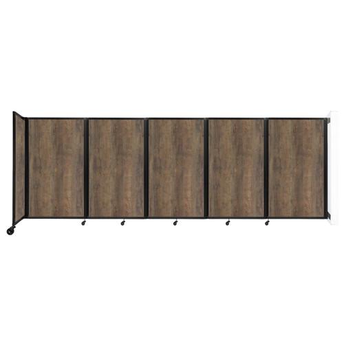 Wall-Mounted Room Divider 360 Folding Portable Partition 14' x 5' Urban Oak Wood Grain