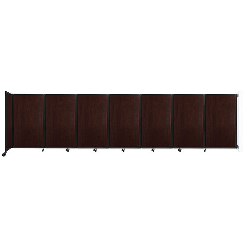 """Wall-Mounted Room Divider 360 Folding Portable Partition 19'6"""" x 5' Espresso Cherry Wood Grain"""