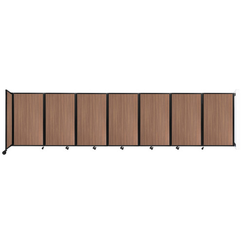 """Wall-Mounted Room Divider 360 Folding Portable Partition 19'6"""" x 5' River Birch Wood Grain"""