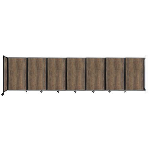 "Wall-Mounted Room Divider 360 Folding Portable Partition 19'6"" x 5' Urban Oak Wood Grain"