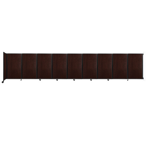 Wall-Mounted Room Divider 360 Folding Portable Partition 25' x 5' Espresso Cherry Wood Grain