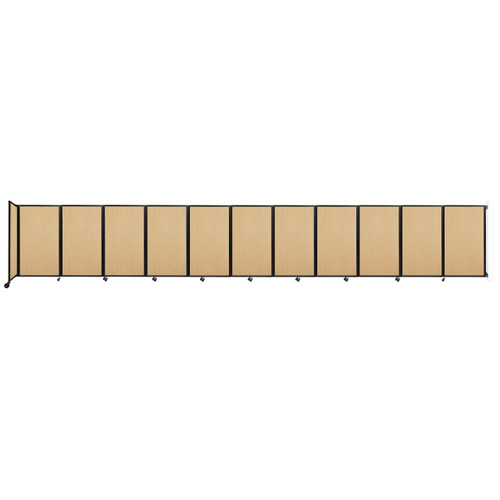 """Wall-Mounted Room Divider 360 Folding Portable Partition 30'6"""" x 5' Natural Maple Wood Grain"""