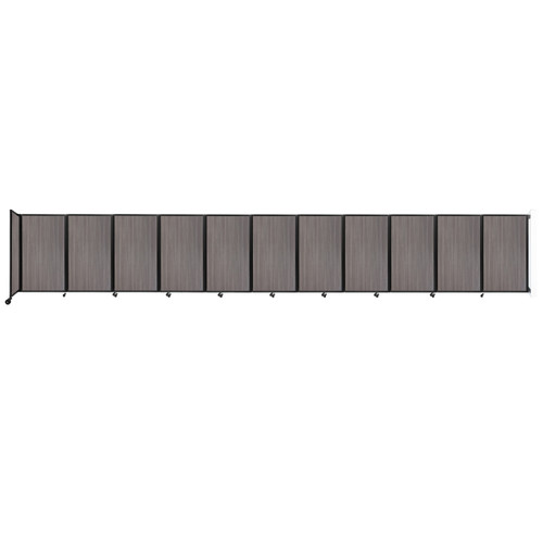 """Wall-Mounted Room Divider 360 Folding Portable Partition 30'6"""" x 5' Gray Elm Wood Grain"""