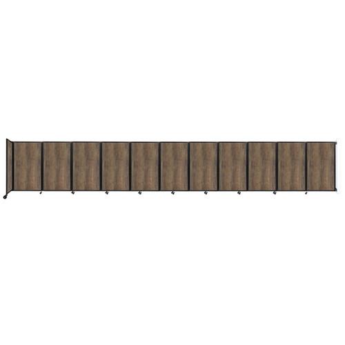 "Wall-Mounted Room Divider 360 Folding Portable Partition 30'6"" x 5' Urban Oak Wood Grain"