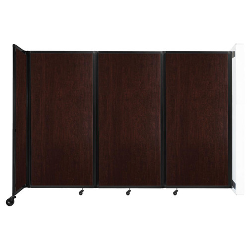 """Wall-Mounted Room Divider 360 Folding Portable Partition 8'6"""" x 6' Espresso Cherry Wood Grain"""