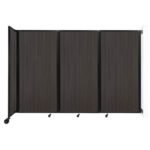 """Wall-Mounted Room Divider 360 Folding Portable Partition 8'6"""" x 6' Carbon Ash Wood Grain"""