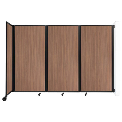 """Wall-Mounted Room Divider 360 Folding Portable Partition 8'6"""" x 6' River Birch Wood Grain"""