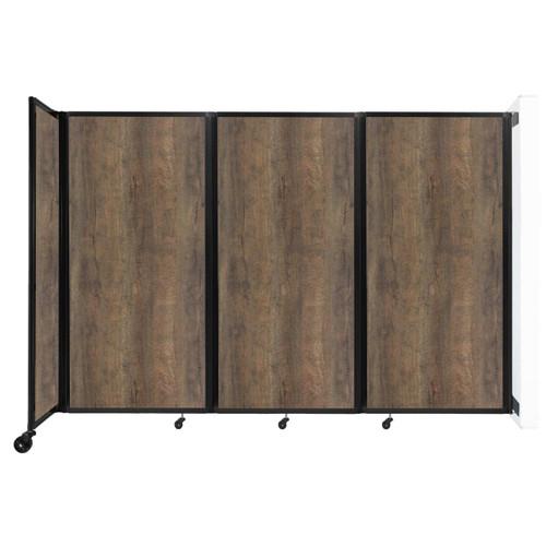 "Wall-Mounted Room Divider 360 Folding Portable Partition 8'6"" x 6' Urban Oak Wood Grain"