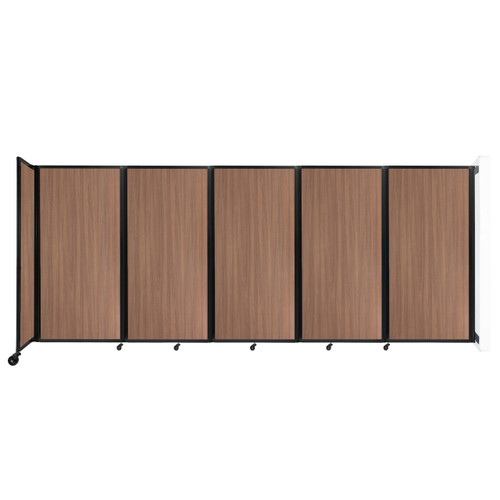 Wall-Mounted Room Divider 360 Folding Portable Partition 14' x 6' River Birch Wood Grain