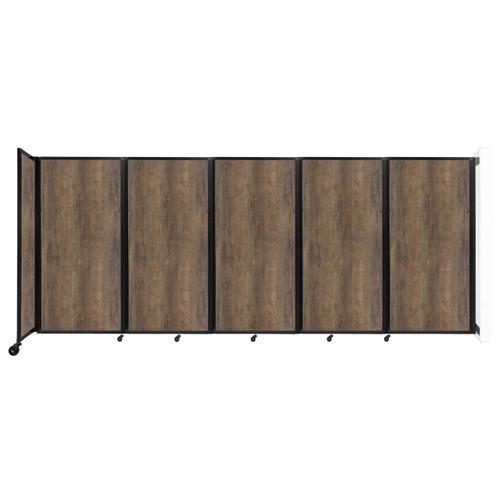 Wall-Mounted Room Divider 360 Folding Portable Partition 14' x 6' Urban Oak Wood Grain
