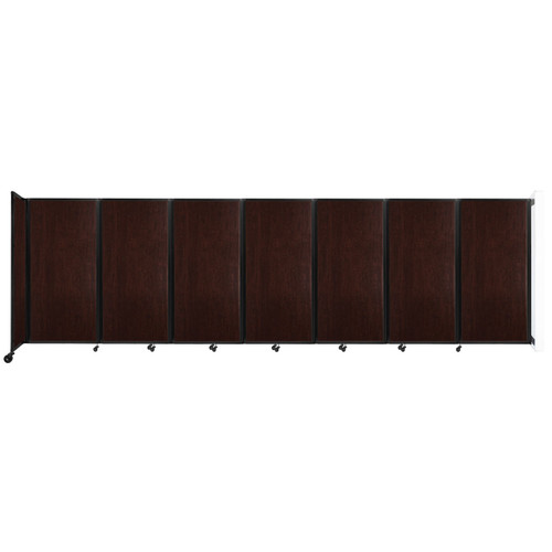 """Wall-Mounted Room Divider 360 Folding Portable Partition 19'6"""" x 6' Espresso Cherry Wood Grain"""