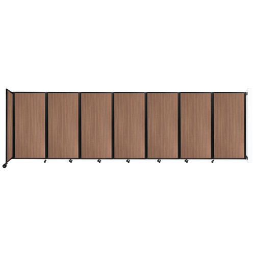"""Wall-Mounted Room Divider 360 Folding Portable Partition 19'6"""" x 6' River Birch Wood Grain"""