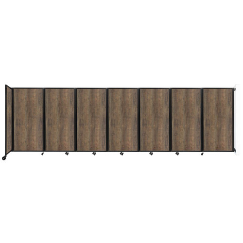 "Wall-Mounted Room Divider 360 Folding Portable Partition 19'6"" x 6' Urban Oak Wood Grain"