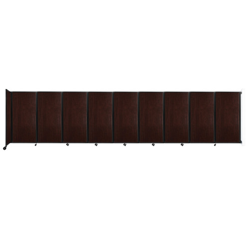 Wall-Mounted Room Divider 360 Folding Portable Partition 25' x 6' Espresso Cherry Wood Grain