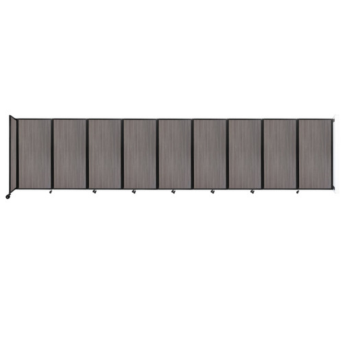 Wall-Mounted Room Divider 360 Folding Portable Partition 25' x 6' Gray Elm Wood Grain