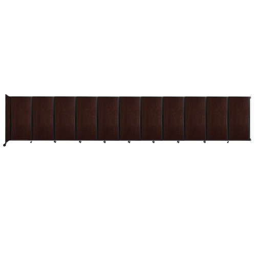 """Wall-Mounted Room Divider 360 Folding Portable Partition 30'6"""" x 6' Espresso Cherry Wood Grain"""