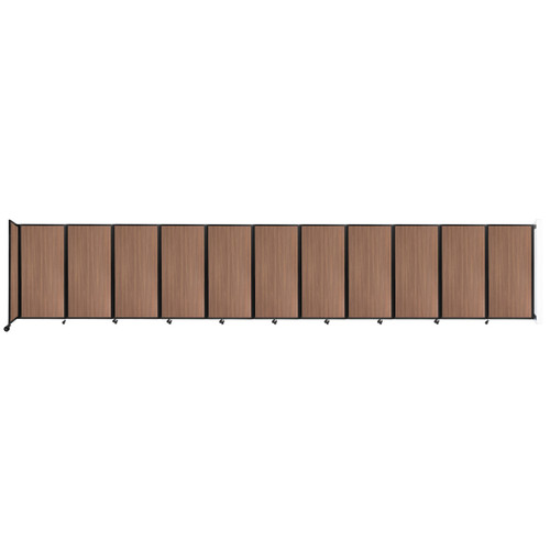 """Wall-Mounted Room Divider 360 Folding Portable Partition 30'6"""" x 6' River Birch Wood Grain"""