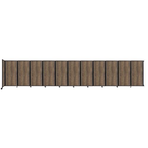 "Wall-Mounted Room Divider 360 Folding Portable Partition 30'6"" x 6' Urban Oak Wood Grain"