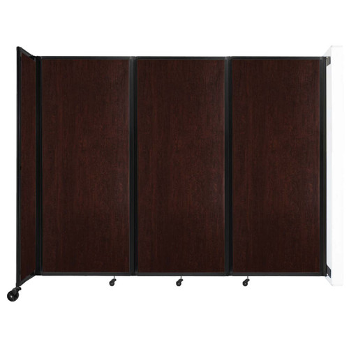 """Wall-Mounted Room Divider 360 Folding Portable Partition 8'6"""" x 6'10"""" Espresso Cherry Wood Grain"""
