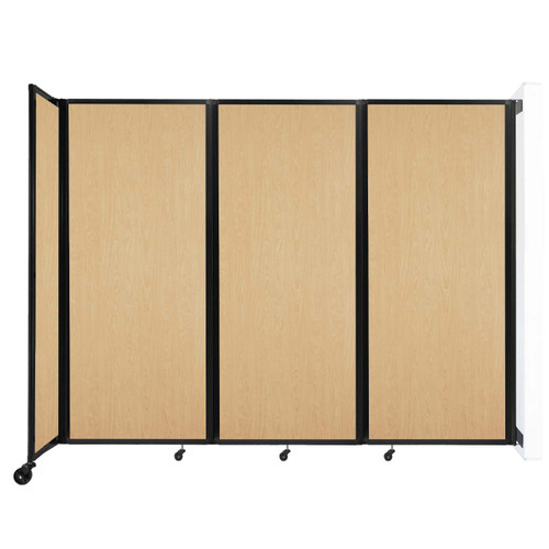 """Wall-Mounted Room Divider 360 Folding Portable Partition 8'6"""" x 6'10"""" Natural Maple Wood Grain"""