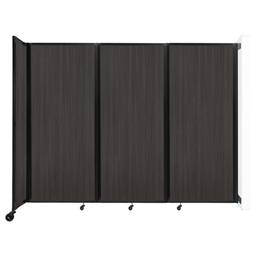 """Wall-Mounted Room Divider 360 Folding Portable Partition 8'6"""" x 6'10"""" Carbon Ash Wood Grain"""
