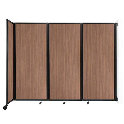 """Wall-Mounted Room Divider 360 Folding Portable Partition 8'6"""" x 6'10"""" River Birch Wood Grain"""