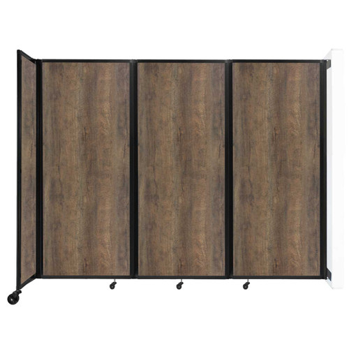 "Wall-Mounted Room Divider 360 Folding Portable Partition 8'6"" x 6'10"" Urban Oak Wood Grain"