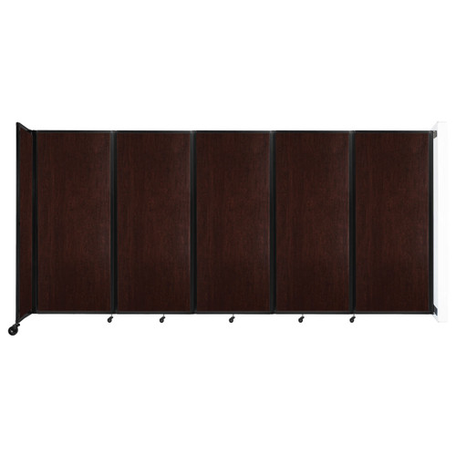 """Wall-Mounted Room Divider 360 Folding Portable Partition 14' x 6'10"""" Espresso Cherry Wood Grain"""