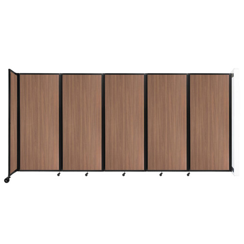 """Wall-Mounted Room Divider 360 Folding Portable Partition 14' x 6'10"""" River Birch Wood Grain"""