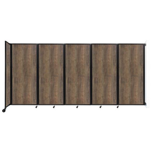 "Wall-Mounted Room Divider 360 Folding Portable Partition 14' x 6'10"" Urban Oak Wood Grain"