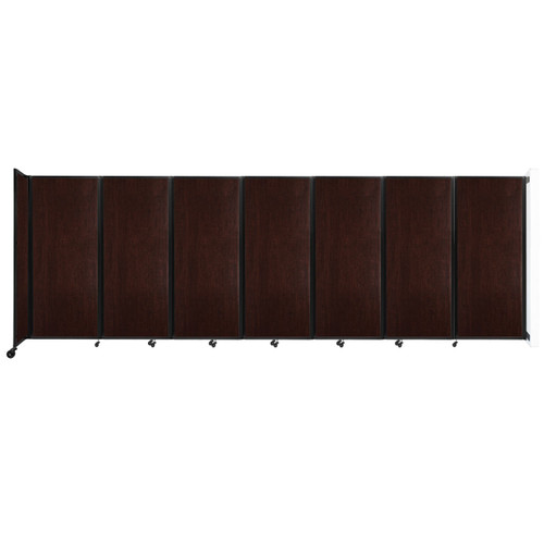 """Wall-Mounted Room Divider 360 Folding Portable Partition 19'6"""" x 6'10"""" Espresso Cherry Wood Grain"""