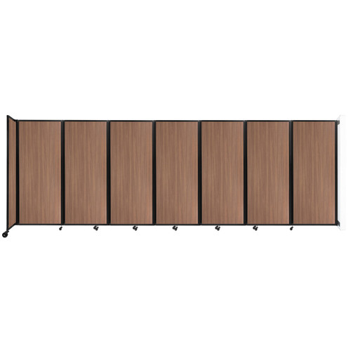 """Wall-Mounted Room Divider 360 Folding Portable Partition 19'6"""" x 6'10"""" River Birch Wood Grain"""