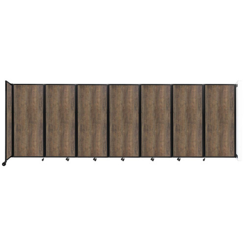"Wall-Mounted Room Divider 360 Folding Portable Partition 19'6"" x 6'10"" Urban Oak Wood Grain"