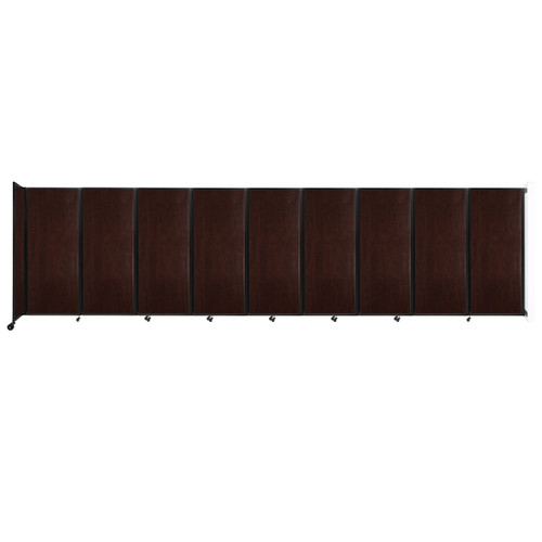 """Wall-Mounted Room Divider 360 Folding Portable Partition 25' x 6'10"""" Espresso Cherry Wood Grain"""