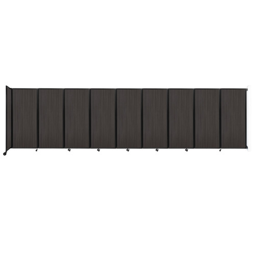 """Wall-Mounted Room Divider 360 Folding Portable Partition 25' x 6'10"""" Carbon Ash Wood Grain"""