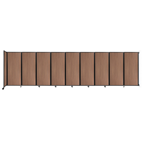 """Wall-Mounted Room Divider 360 Folding Portable Partition 25' x 6'10"""" River Birch Wood Grain"""