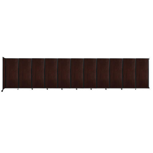 """Wall-Mounted Room Divider 360 Folding Portable Partition 30'6"""" x 6'10"""" Espresso Cherry Wood Grain"""