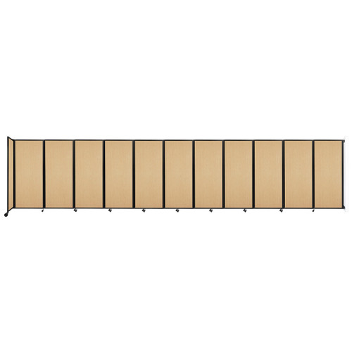 """Wall-Mounted Room Divider 360 Folding Portable Partition 30'6"""" x 6'10"""" Natural Maple Wood Grain"""