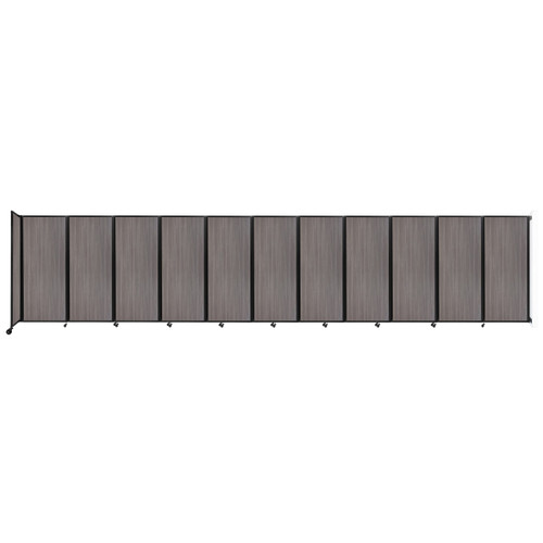 """Wall-Mounted Room Divider 360 Folding Portable Partition 30'6"""" x 6'10"""" Gray Elm Wood Grain"""