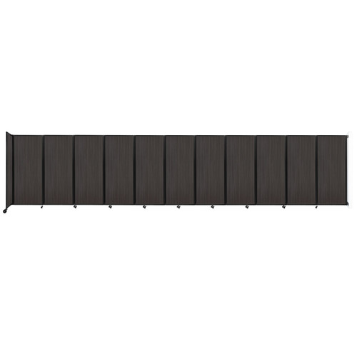 """Wall-Mounted Room Divider 360 Folding Portable Partition 30'6"""" x 6'10"""" Carbon Ash Wood Grain"""