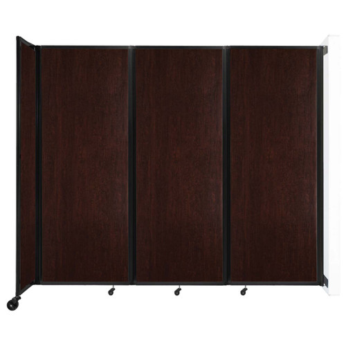 """Wall-Mounted Room Divider 360 Folding Portable Partition 8'6"""" x 7'6"""" Espresso Cherry Wood Grain"""
