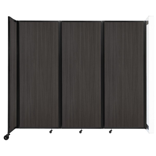 """Wall-Mounted Room Divider 360 Folding Portable Partition 8'6"""" x 7'6"""" Carbon Ash Wood Grain"""